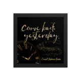 Come back yesterday. Caraval Art Print - LitLifeCo.
