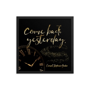 Come back yesterday. Caraval Quote Art Print - LitLifeCo.