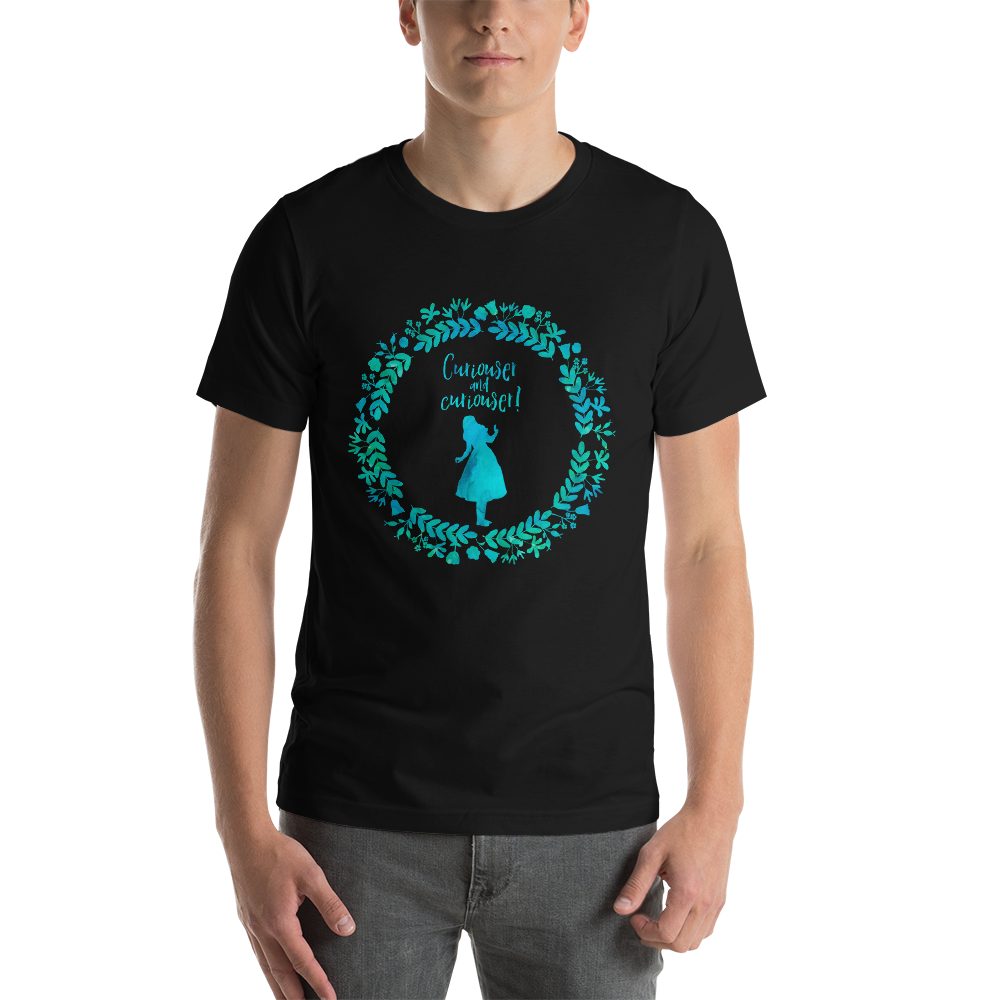 Curiouser... Alice in Wonderland Quote T-Shirt - LitLifeCo.