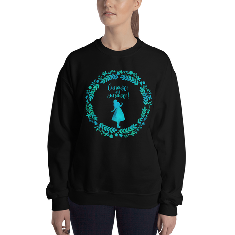 Curiouser and curiouser! Alice in Wonderland Unisex Sweatshirt - LitLifeCo.
