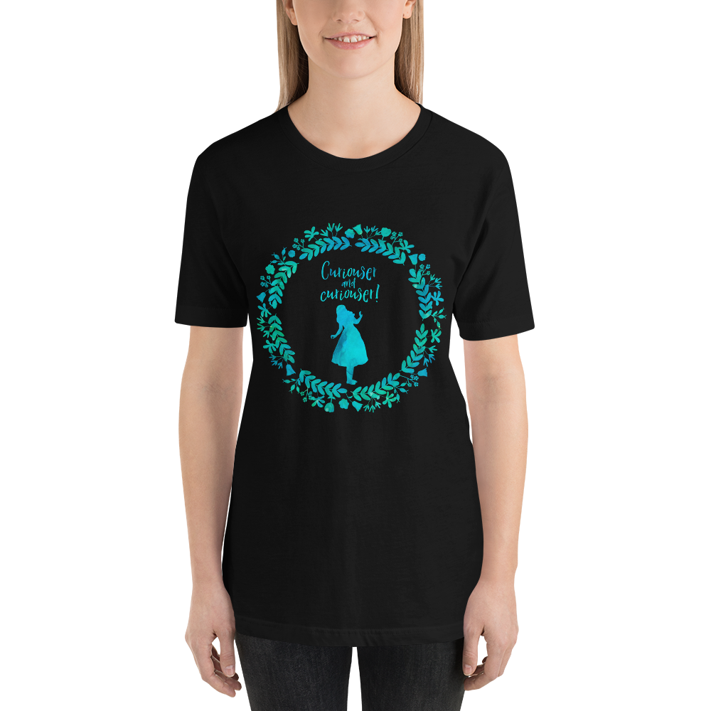Curiouser... Alice in Wonderland T-Shirt - LitLifeCo.