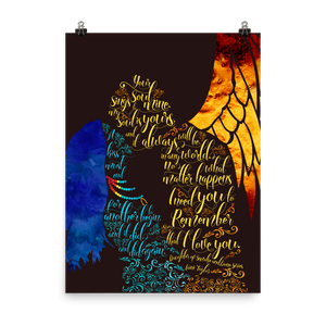 Your soul sings to mine... Daughter of Smoke and Bone Series Quote Art Print - LitLifeCo.