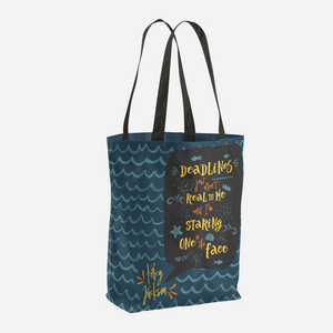 Deadlines... Percy Jackson Quote Tote Bag - LitLifeCo.