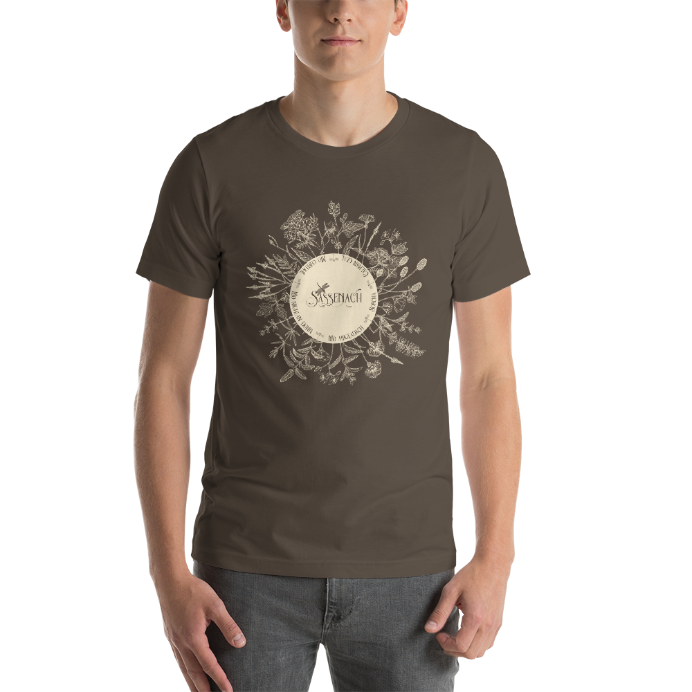 Dear Sassenach in Sepia. Outlander Quote Unisex Short Sleeved Shirt - LitLifeCo.