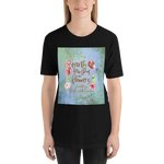 Earth laughs in flowers. Ralph Waldo Emerson Quote Unisex Short Sleeved Shirt - LitLifeCo.