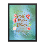 Earth laughs... Ralph Waldo Emerson Art Print - LitLifeCo.