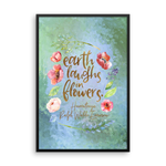 Earth laughs... Ralph Waldo Emerson Art Print - Literary Lifestyle Company