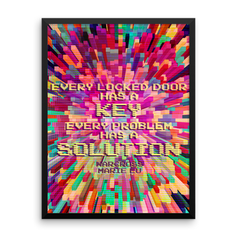 Every locked door has a key. Every problem has a solution. Warcross Quote Art Print - LitLifeCo.