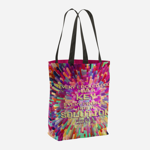 Every locked door has a key... Warcross Quote Tote Bag - LitLifeCo.