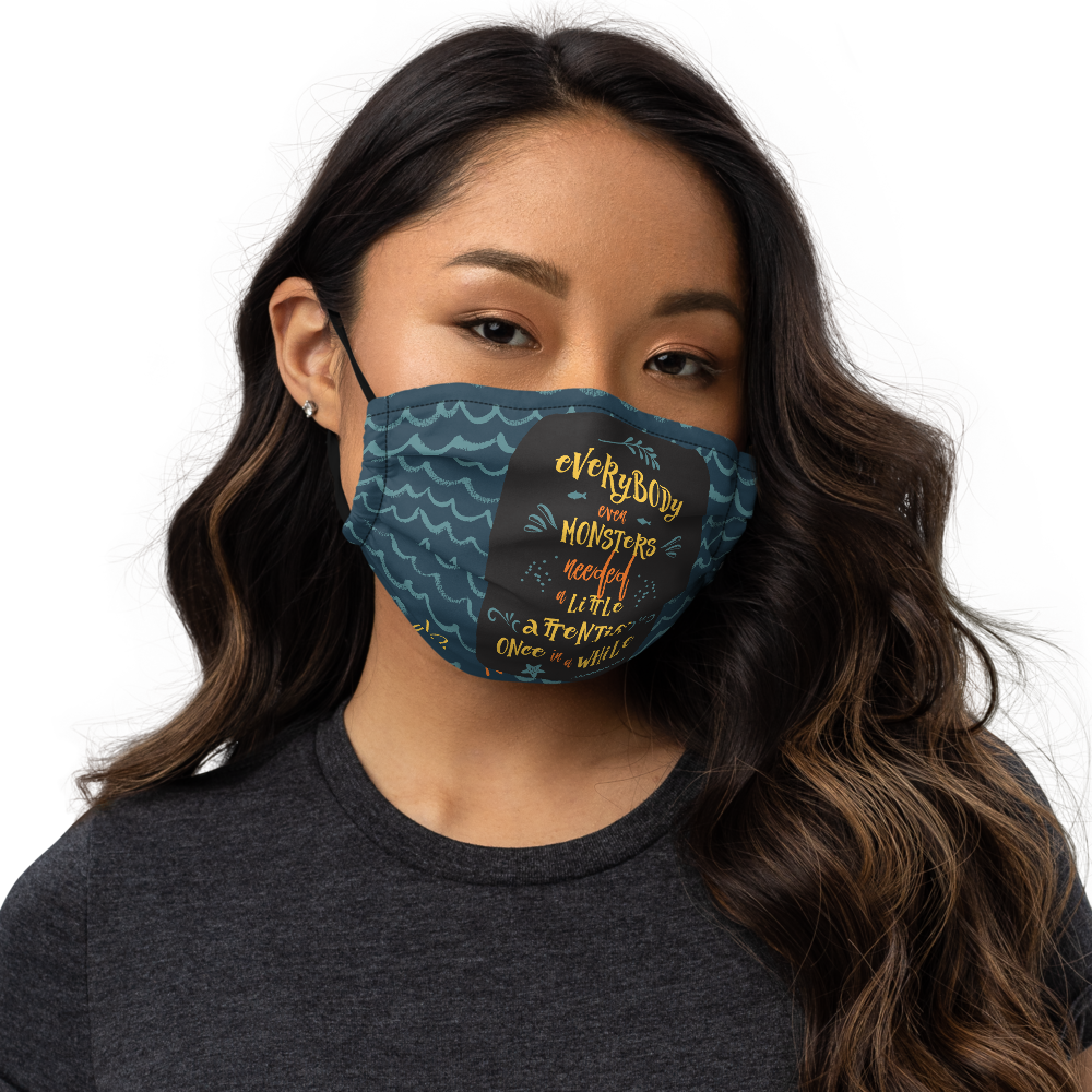 Everybody, even monsters... Percy Jackson Premium Face Mask