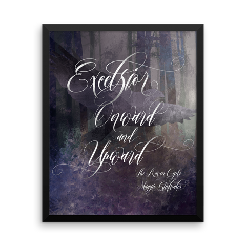 Excelsior. The Raven Boys Quote Art Print - LitLifeCo.