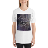 Excelsior. Onward and upward. The Raven Boys Quote Unisex Short Sleeved Shirt - LitLifeCo.