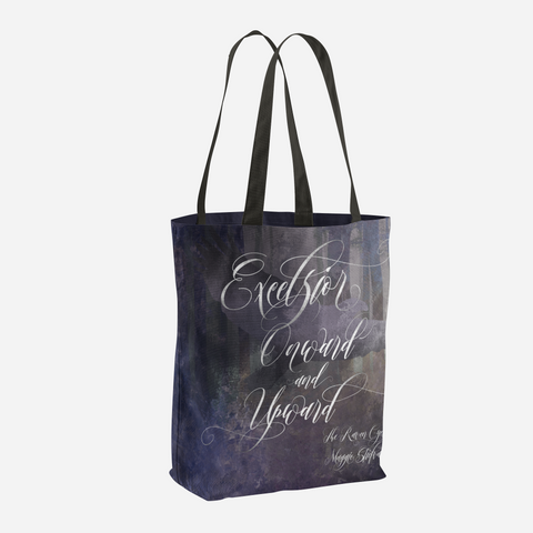 Excelsior. The Raven Boys Quote Tote Bag - LitLifeCo.