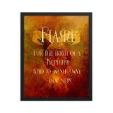 FLAME for the birth of a Nephilim.  And to wash away our sins. Shadowhunter Children's Rhyme Quote Art Print - LitLifeCo.