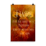 FLAME for the birth of a Nephilim.  And to wash away our sins. Shadowhunter Children's Rhyme Quote Art Print