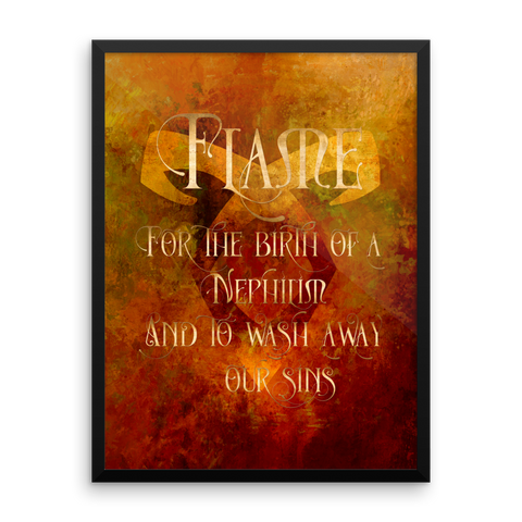 FLAME for the birth of a Nephilim. Shadowhunter Children's Rhyme Quote Art Print - LitLifeCo.