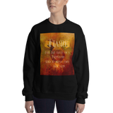 FLAME for the birth of a Nephilim. And to wash away our sins. Shadowhunter Children's Rhyme Quote Unisex Sweatshirt - LitLifeCo.