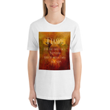 FLAME for the birth of a Nephilim... Shadowhunter Children's Rhyme Quote Unisex Short Sleeved Shirt - LitLifeCo.