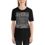 For where love is... Claire Fraser Quote Unisex Short Sleeved Shirt - LitLifeCo.