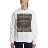 For where love is... Claire Fraser Quote in Sepia Unisex Sweatshirt - LitLifeCo.