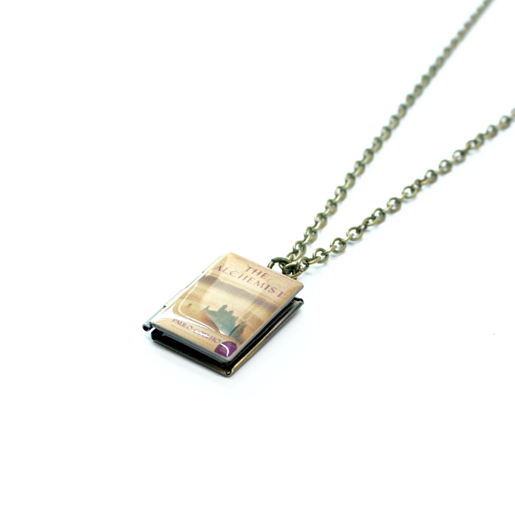 The Alchemist Book Necklace - LitLifeCo.