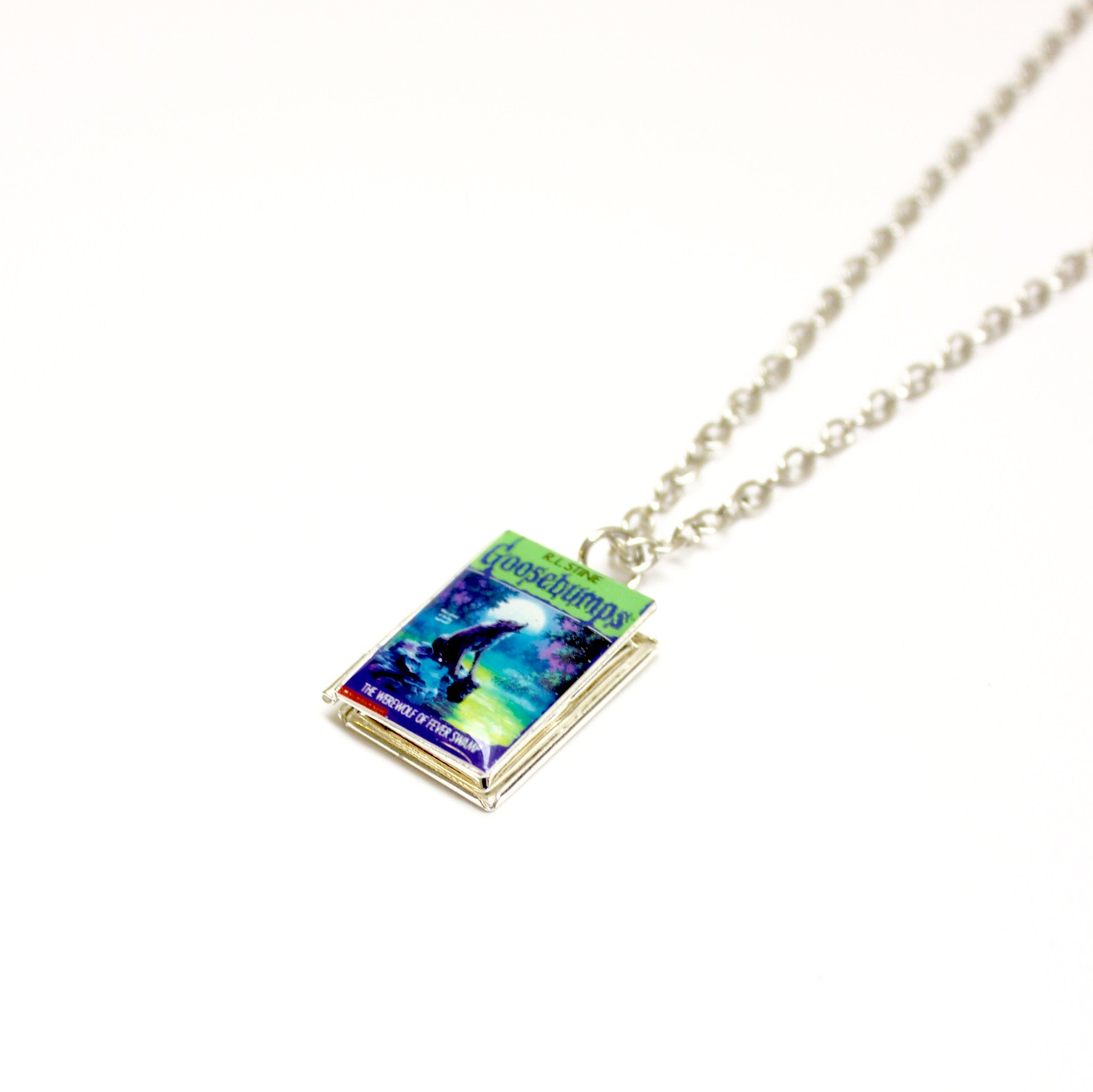 Goosebumps Book Necklace - Literary Lifestyle Company