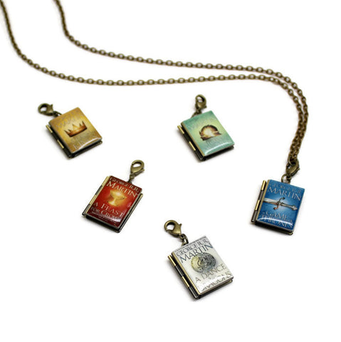 Game of Thrones Interchangeable Book Locket Necklace - LitLifeCo.