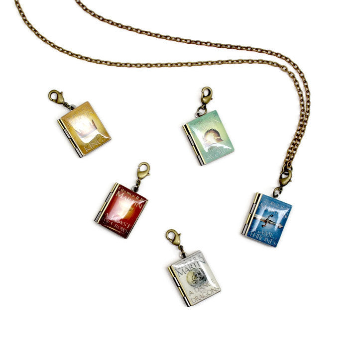 Game of Thrones Interchangeable Book Locket Necklace - Literary Lifestyle Company