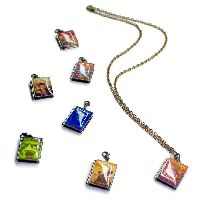 Harry Potter Interchangeable Book Locket Necklace - LitLifeCo.