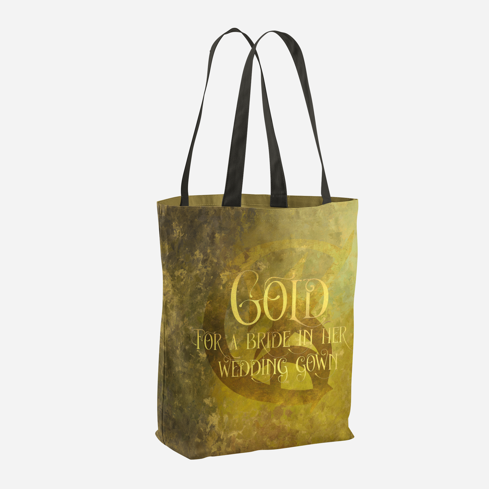 GOLD for a bride in her wedding gown. Shadowhunter Children's Rhyme Quote Tote Bag - LitLifeCo.