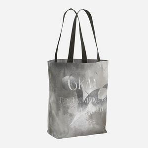 GRAY for knowledge best untold. Shadowhunter Children's Rhyme Quote Tote Bag - LitLifeCo.