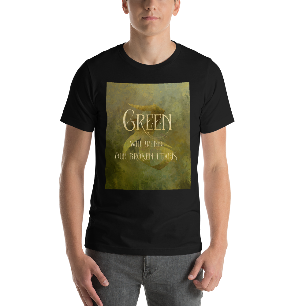 GREEN will mend our broken hearts. Shadowhunter Children's Rhyme Quote Unisex Short Sleeved Shirt - LitLifeCo.