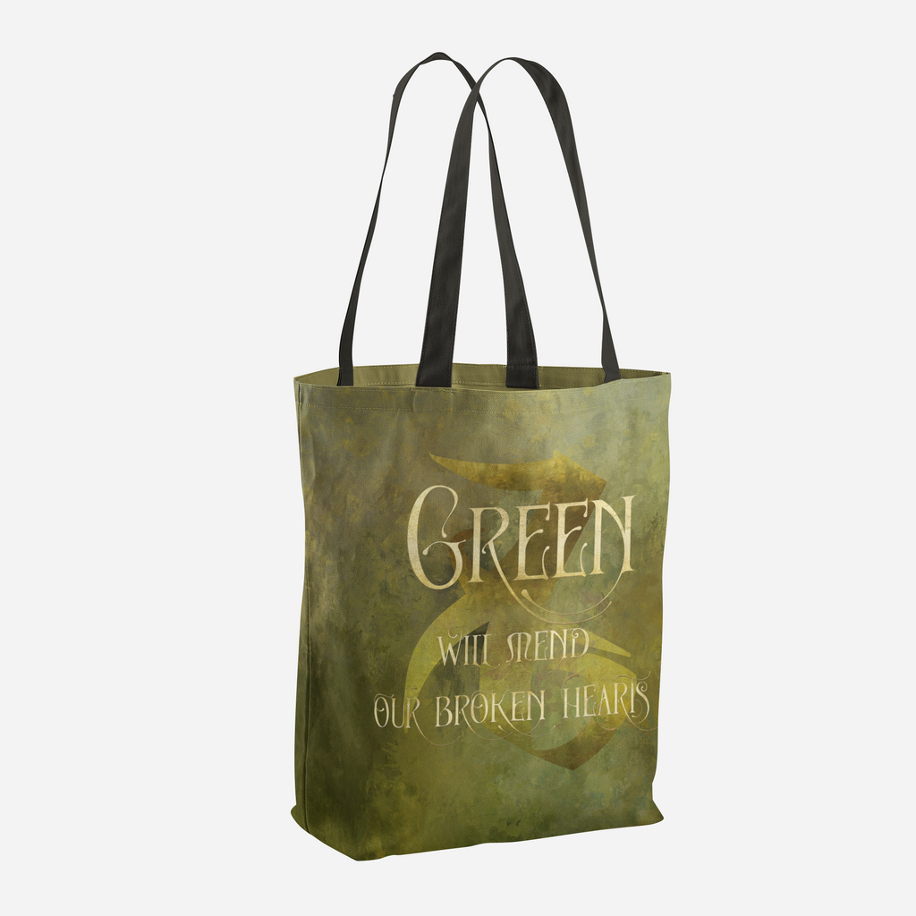 GREEN will heal our broken hearts. Shadowhunter Children's Rhyme Quote Tote Bag - LitLifeCo.