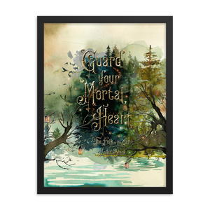 Guard your mortal heart. The Folk of the Air Art Print - LitLifeCo.