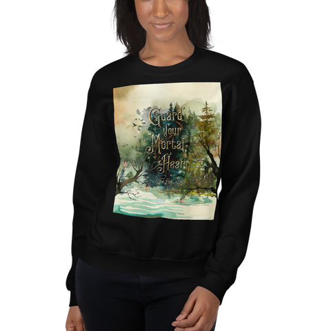 Guard your mortal heart. The Folk of the Air Unisex Sweatshirt - LitLifeCo.