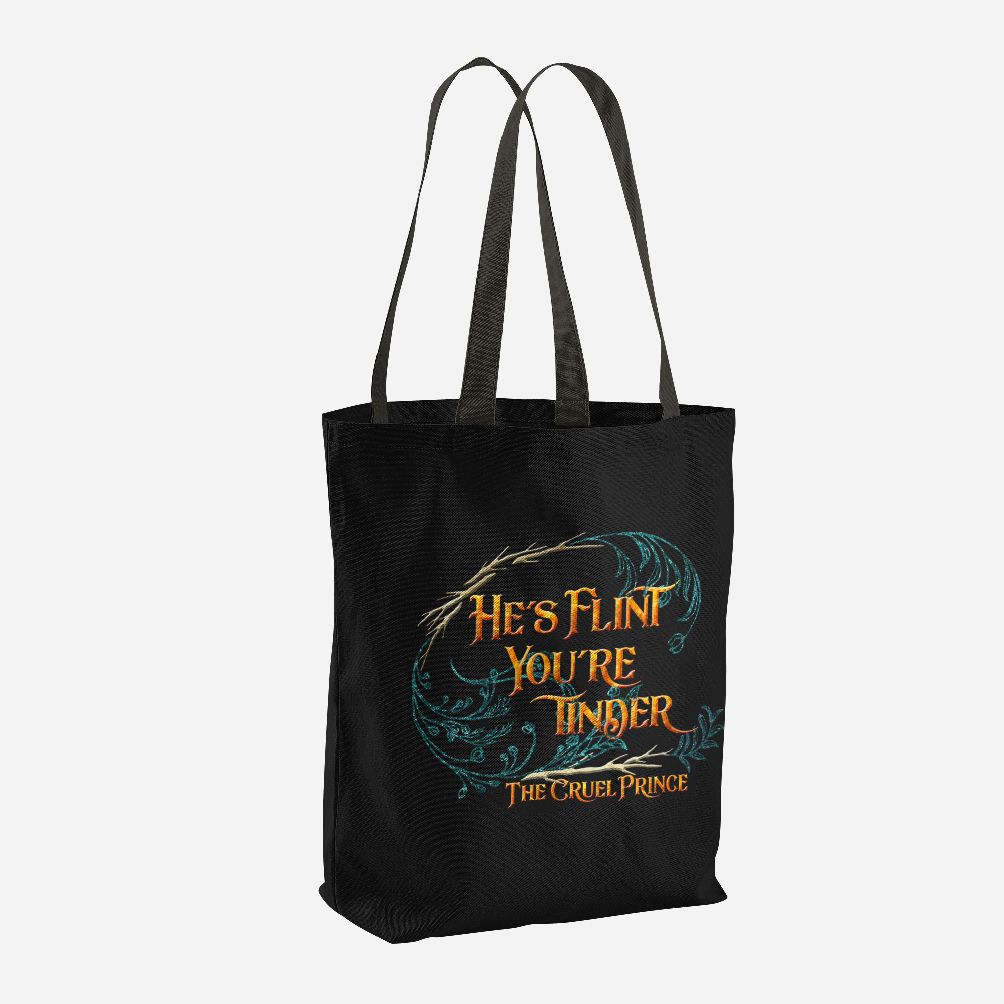 He's flint, you're tinder. The Cruel Prince Quote Tote Bag - LitLifeCo.
