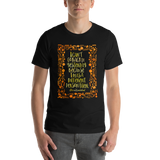I can't go back to yesterday... Alice in Wonderland Quote Unisex Short Sleeved Shirt