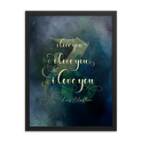 I love you... Livvy Blackthorn Quote Art Print