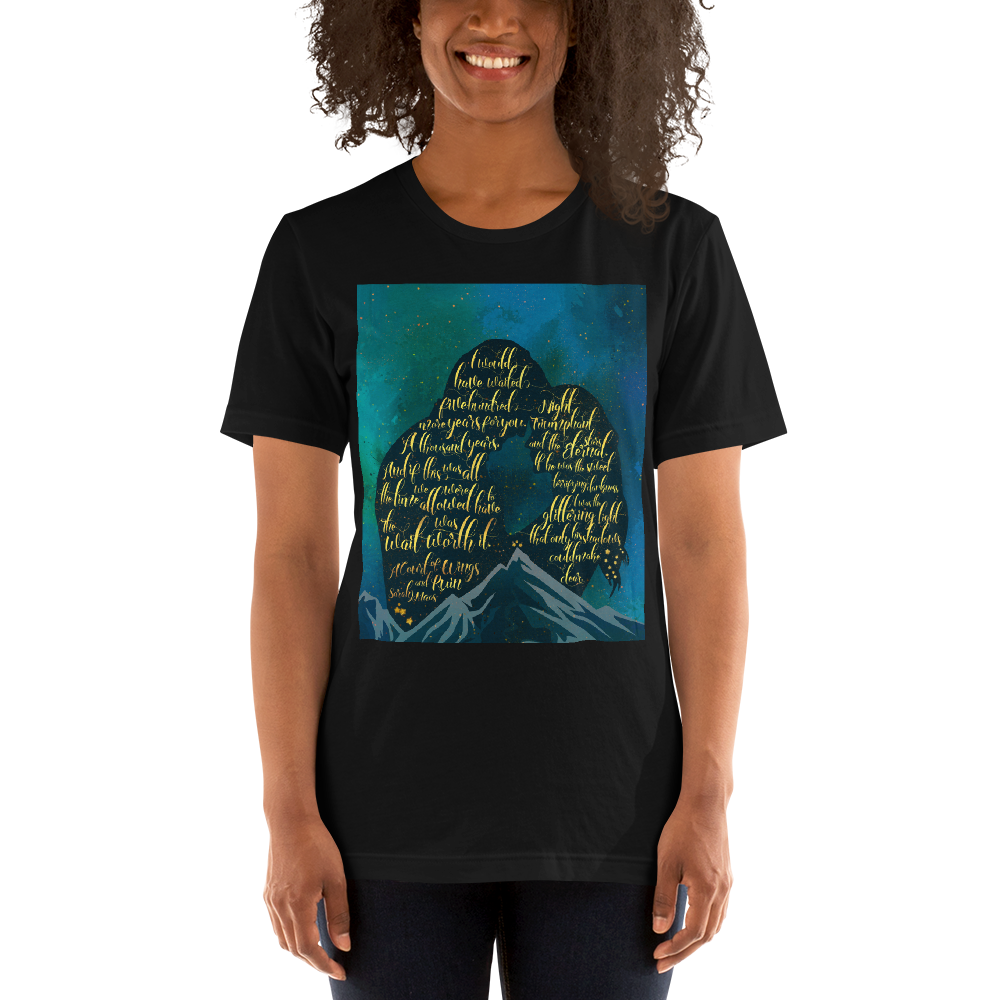 The wait was worth it. A Court of Wings and Ruin (ACOWAR) Quote Unisex Short Sleeved Shirt - LitLifeCo.