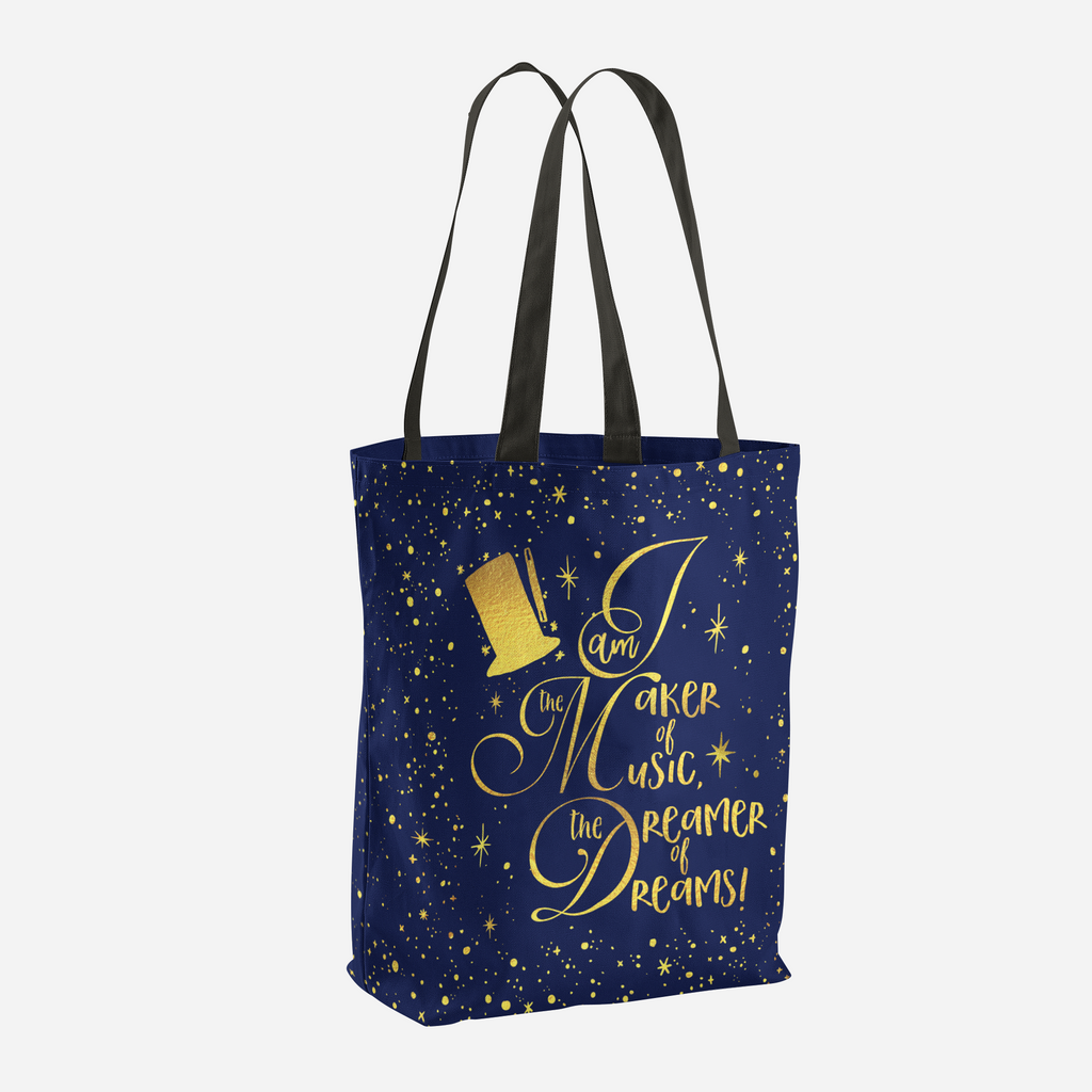 I am the maker of music... Charlie and the Chocolate Factory Quote Tote Bag - LitLifeCo.