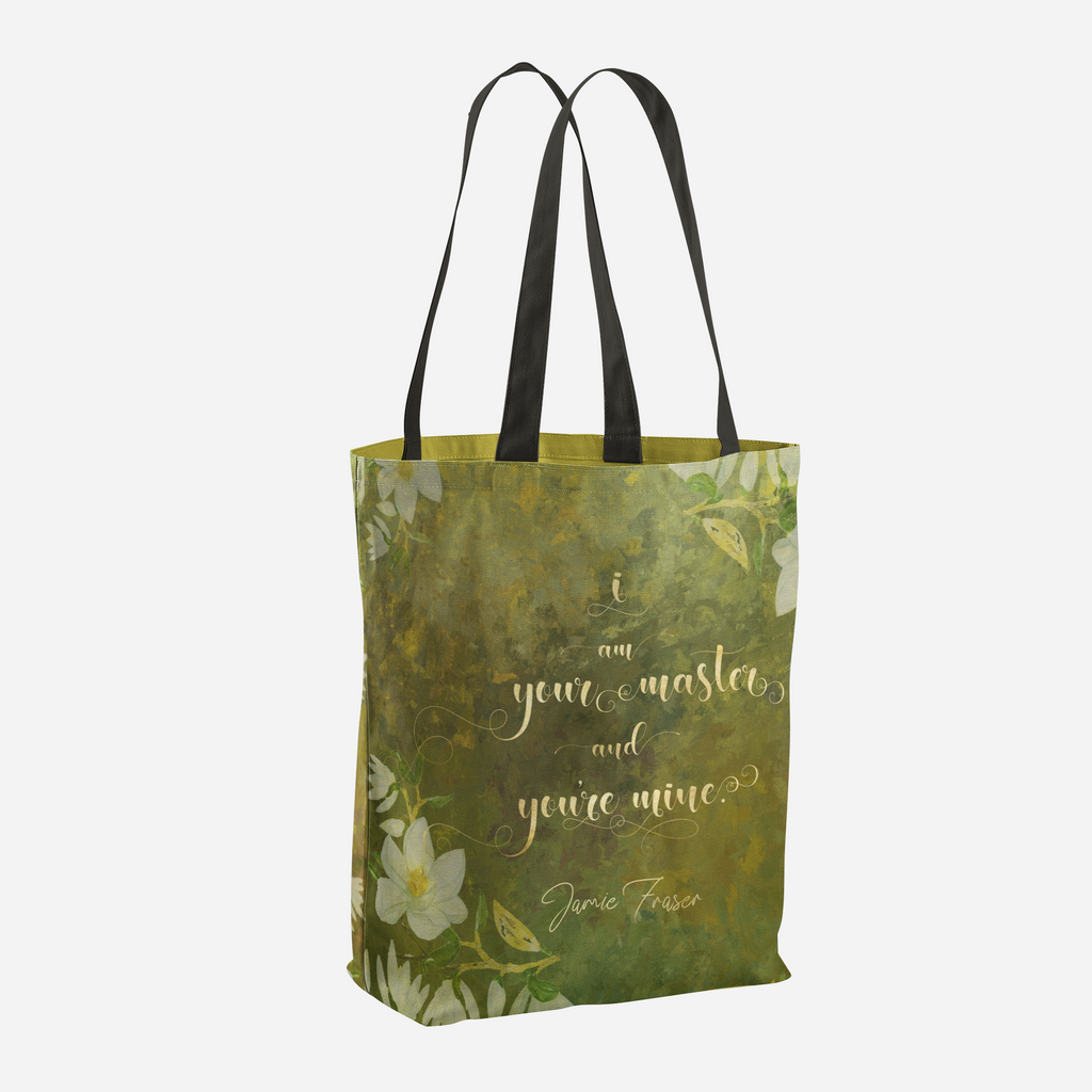 I am your master... Jamie Fraser Quote Tote Bag - LitLifeCo.