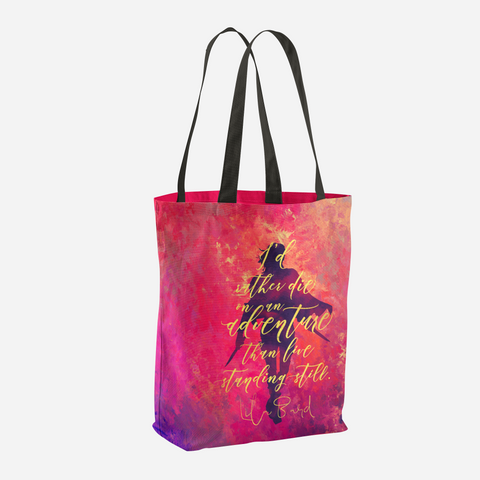 I'd rather die on an adventure... A Darker Shade of Magic Quote Tote Bag