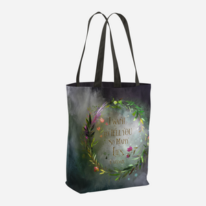 I want to tell you so many lies. Cardan Quote Tote Bag - LitLifeCo.