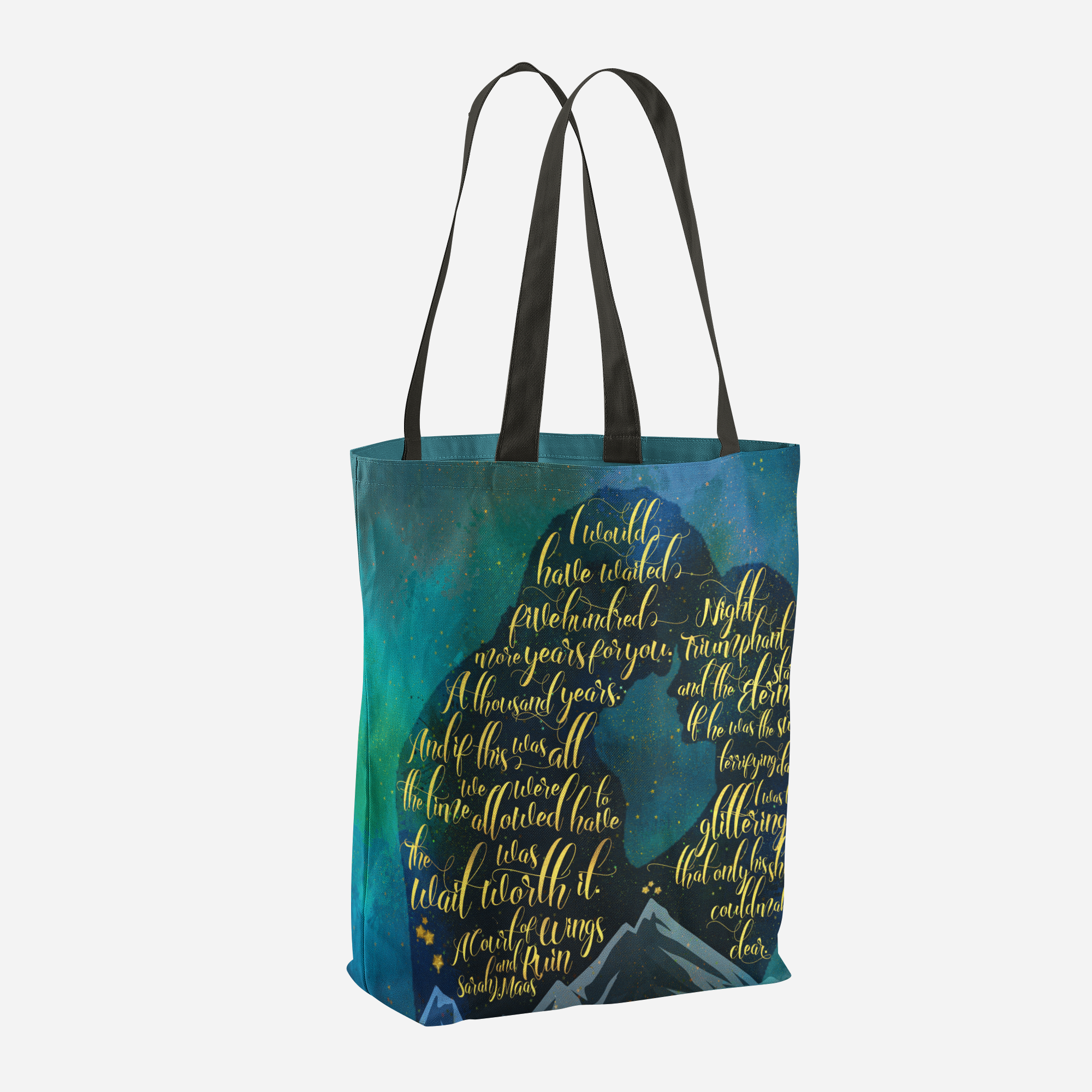 The wait was worth it. A Court of Wings and Ruin (ACOWAR) Quote Tote Bag - LitLifeCo.