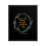 Instead of being afraid, I could become something to fear. The Cruel Prince Quote Art Print - LitLifeCo.