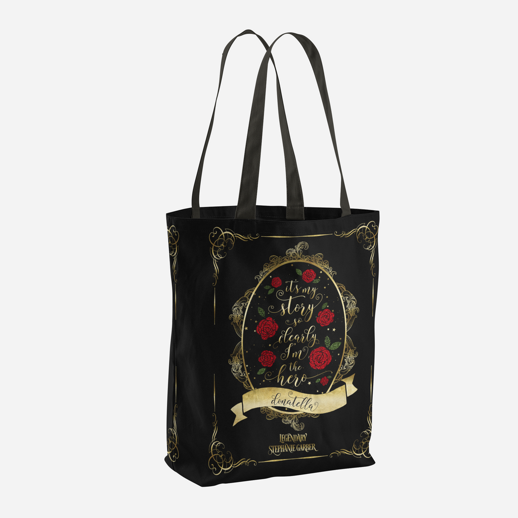 It's my story so clearly I'm the hero. Tella Quote Tote Bag - LitLifeCo.