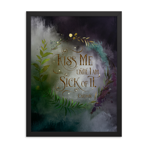 Kiss me... Cardan Quote Art Print - LitLifeCo.