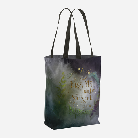 Kiss me... Cardan Quote Tote Bag