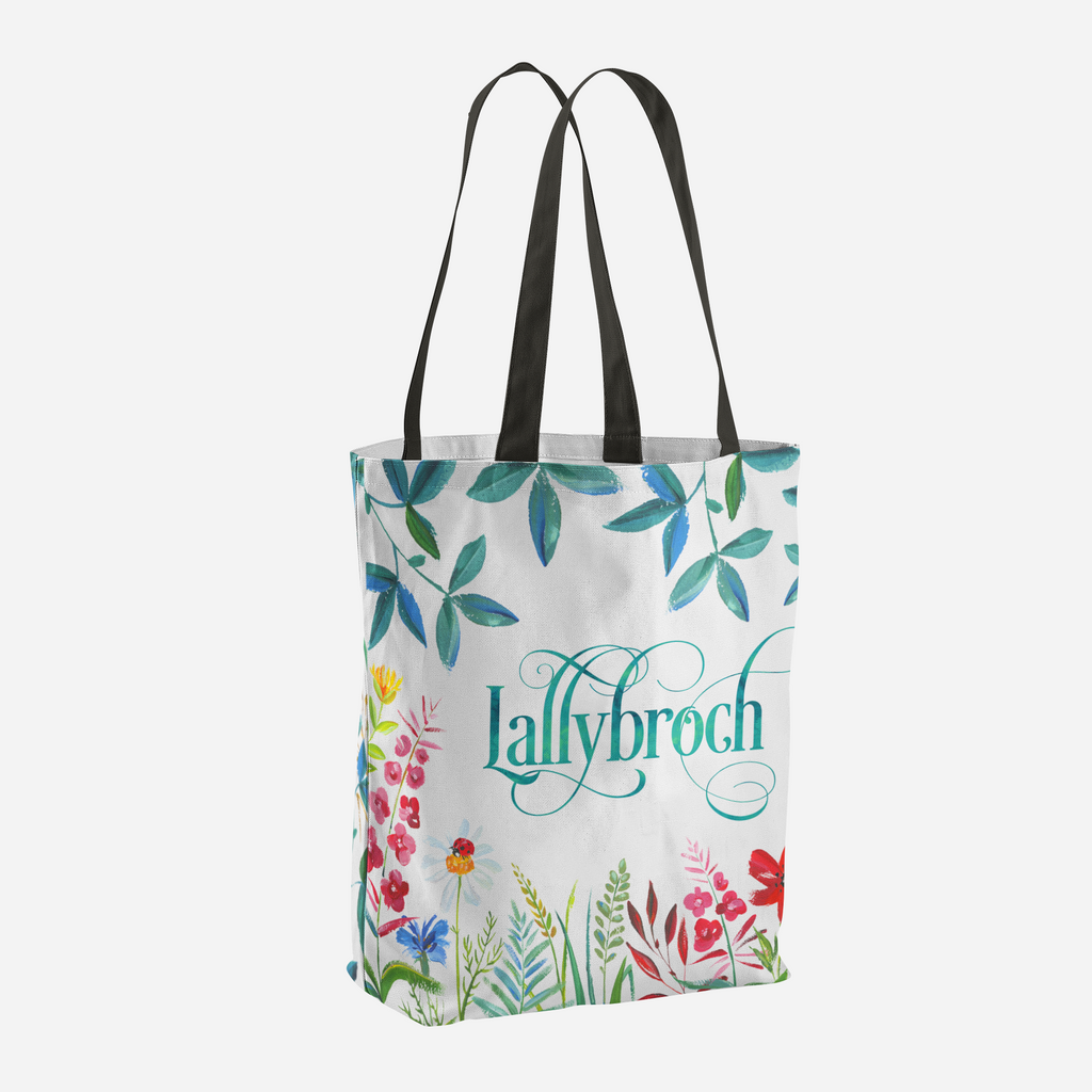 Lallybroch in Bloom Tote Bag - LitLifeCo.