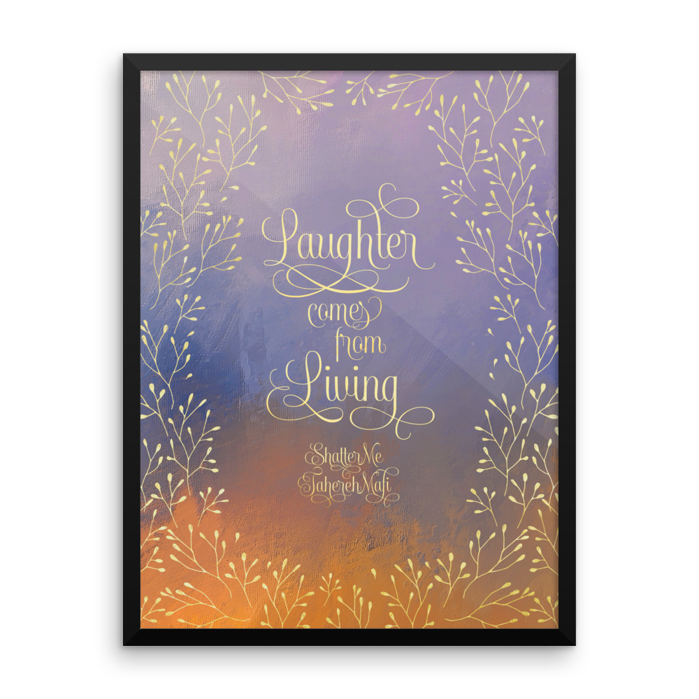 Laughter comes from living. Shatter Me Quote Art Print - LitLifeCo.